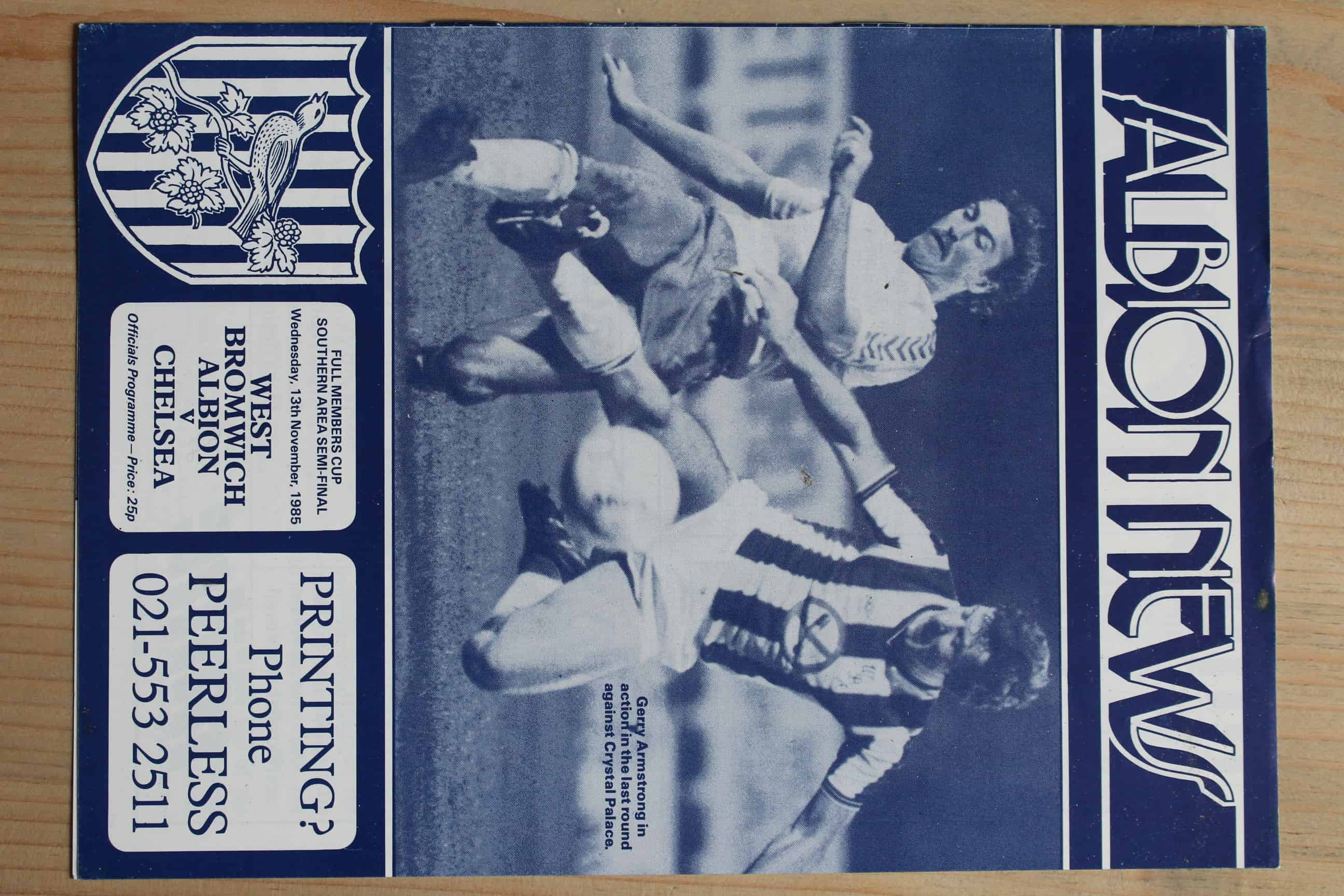West Bromwich Albion FC  v Chelsea FC